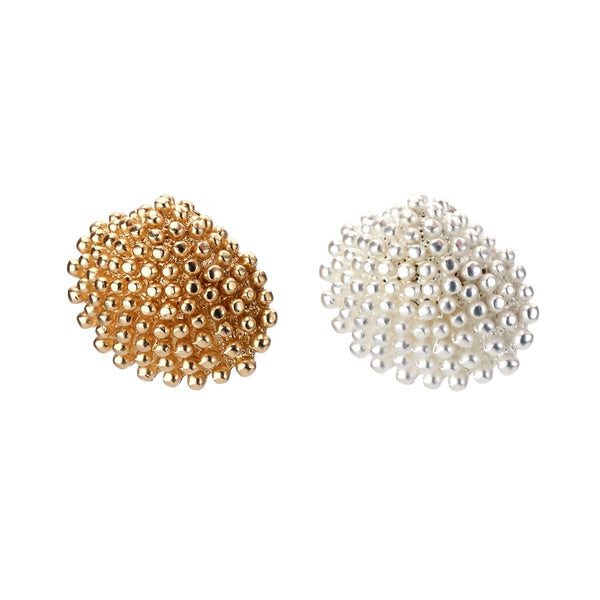 Scallop Shell Stud Earrings