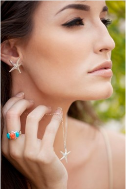 starfish earring studs model