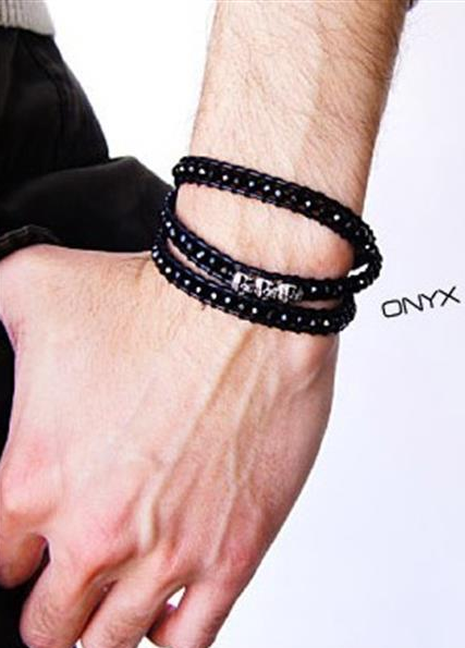 Quiet Black Wrap Bracelet