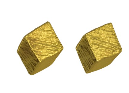 Cubed Gold Studs