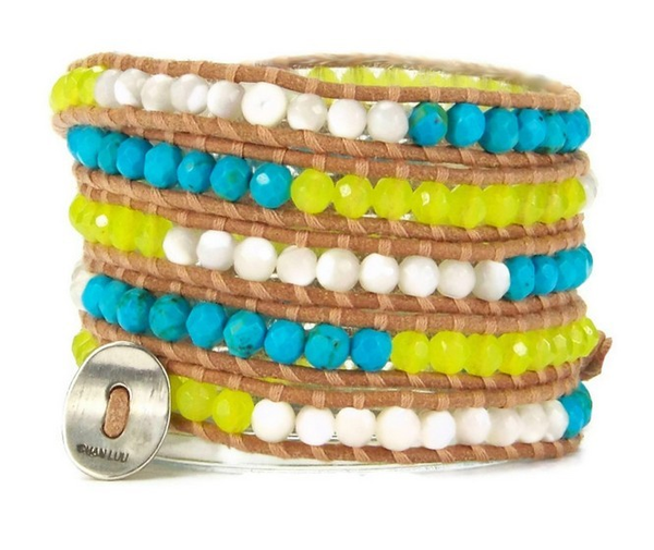 Neon Yellow Wrap Bracelet