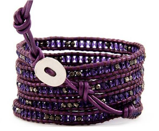 Purple Rain Wrap Bracelet