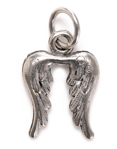 Angel Wings Charm Silver - Girl Intuitive