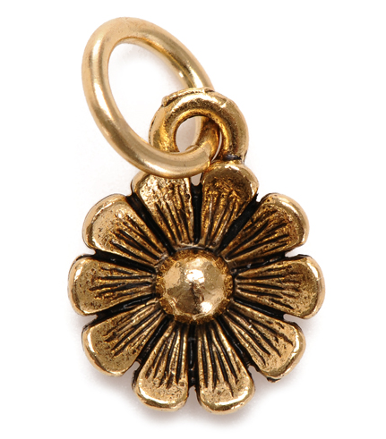 Charm - Daisy Charm Silver or Gold - Girl Intuitive - Jillery - Gold