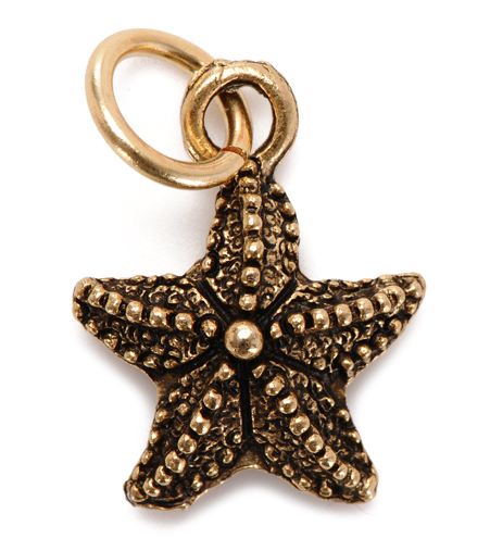 starfish charm gold
