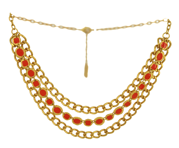 Karine Sultan enamel chain necklace