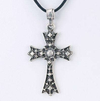Engraved Cross Pendant