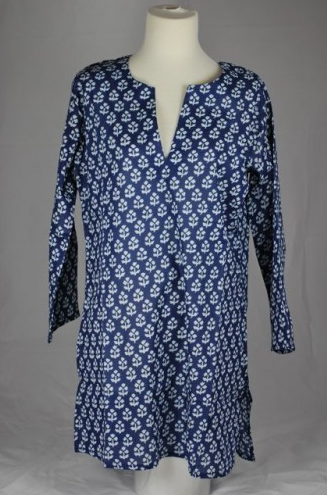 Cotton Tunic Top Navy Blue