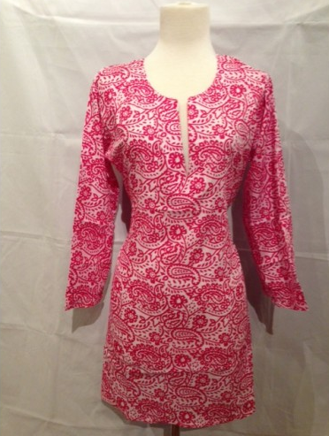 Cotton Tunic Top Paisley Pink