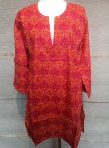 Tunic - Red with Orange