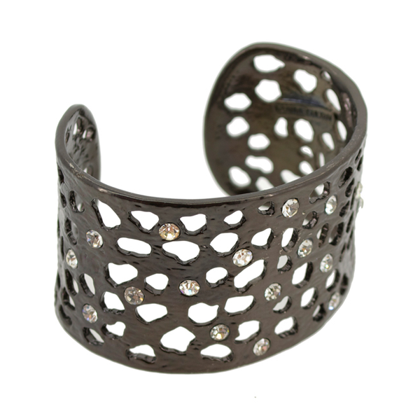 Intricate Cut Out with Crystals Cuff