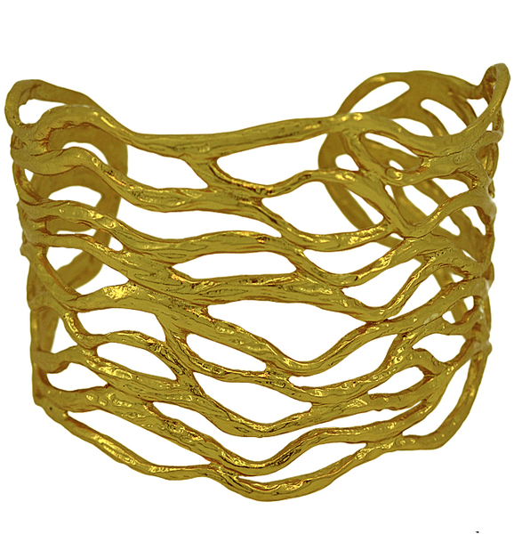 Sculpted Branch Cuff Gold