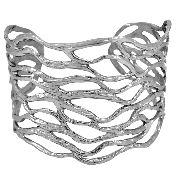 Sculpted Branch Cuff - Silver