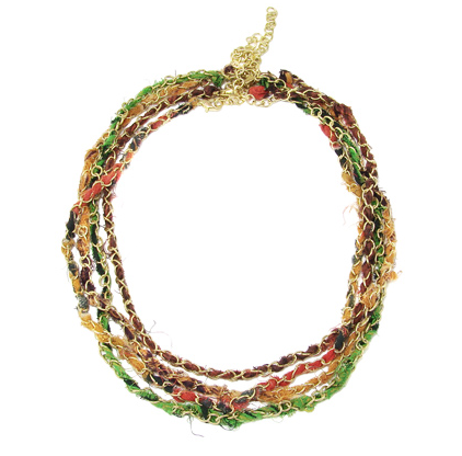 Kantha Multi-Strand Layering Necklace