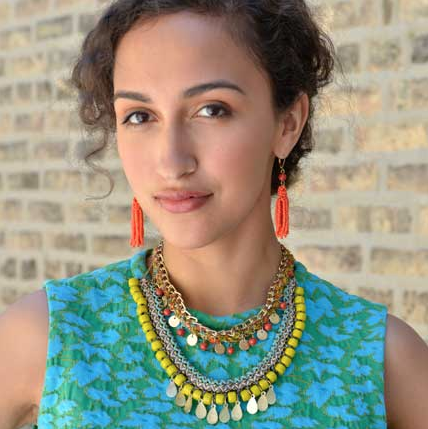 Kantha Fabric Woven Fiesta Necklace
