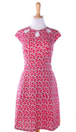 Keyhole Cutout Dress - Red