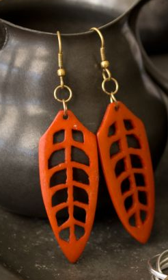 Arbor Orange Earrings - Girl Intuitive