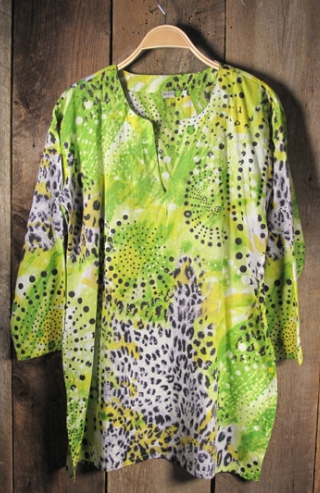 Tunic in Bright Lime Green