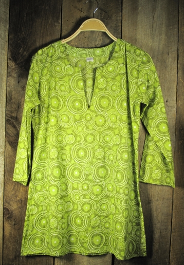 Cotton Print Tunic Lime