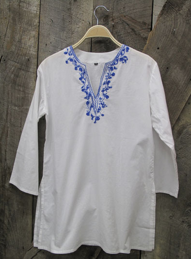 Abacos Tunic Blanc Embroidered - Girl Intuitive