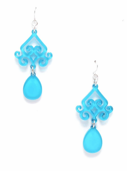 Scroll and Drop Earrings