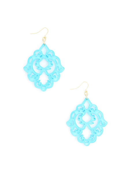 Mod Resin Jewelry Gift Set in Neon Blue