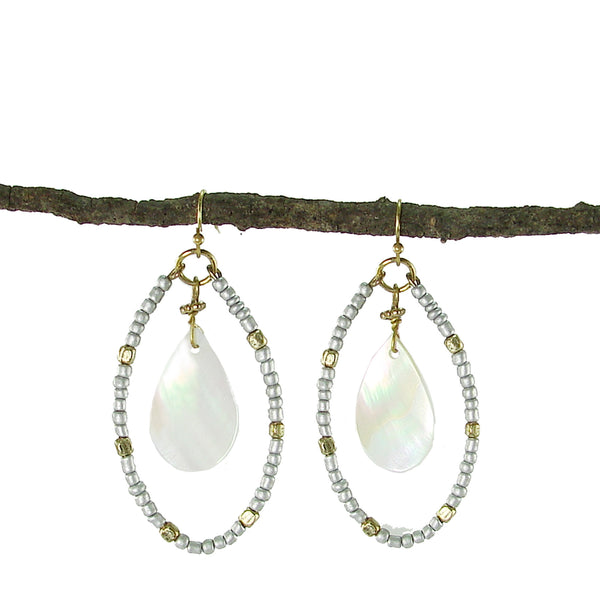 Shell Marquise Earrings