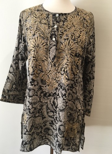 Silk Tunic in Black and White