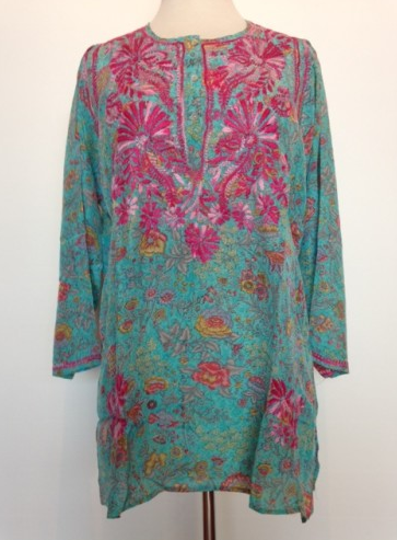 Silk Tunic in Blue