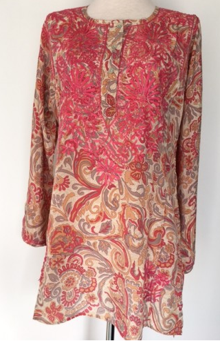Silk Tunic in Pink