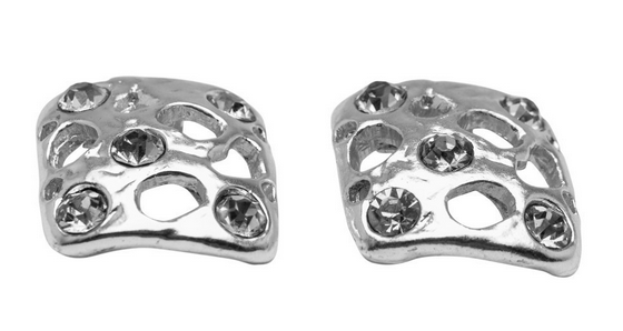Silver Square Studs Earrings