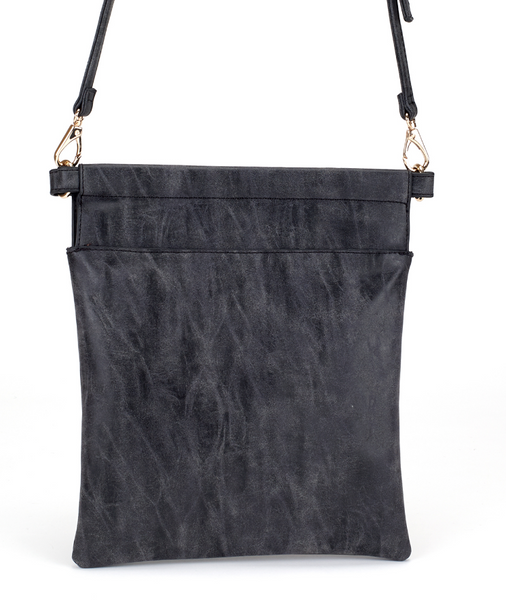 Slim Crossbody Bag in Black