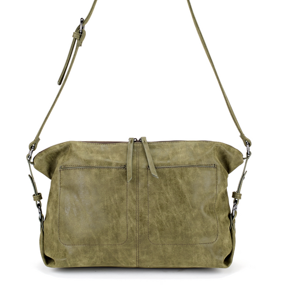 Slouchy East West Bag in Green