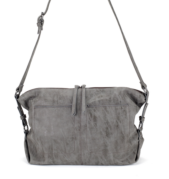 Slouchy East West Bag in Gray