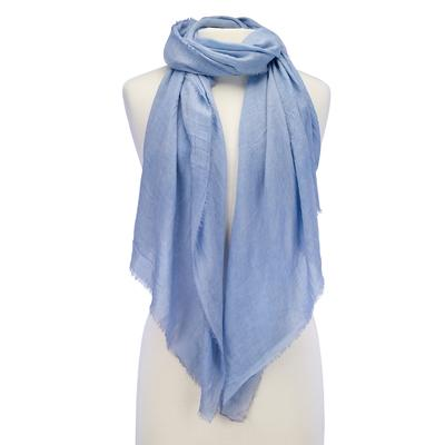 Soft Solid Scarf blue