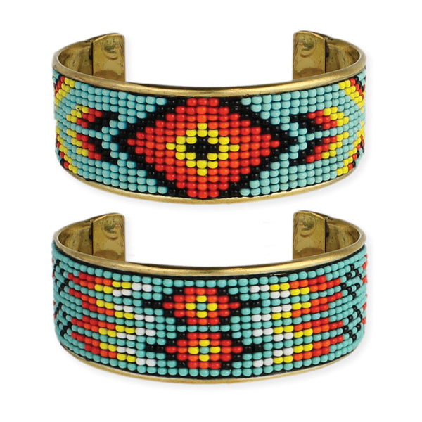 8ff7a35148b Southwest Beaded Cuff Bracelet – Girl Intuitive
