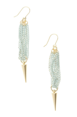 Spike and Ice Earrings mint