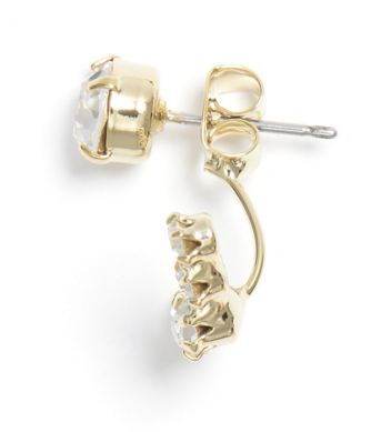Staying Anchored Studs Earrings in Clear
