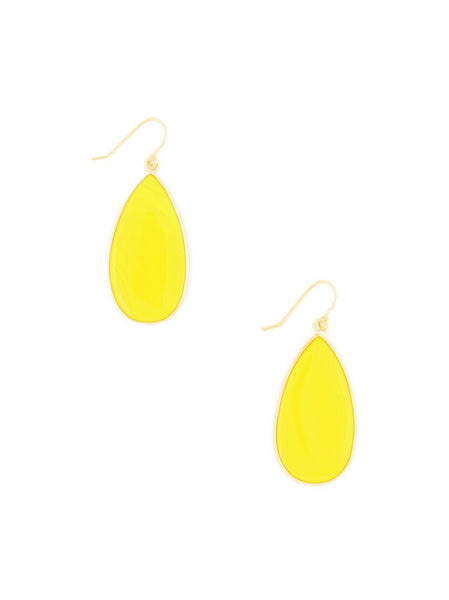 Stone Petal Earrings yellow
