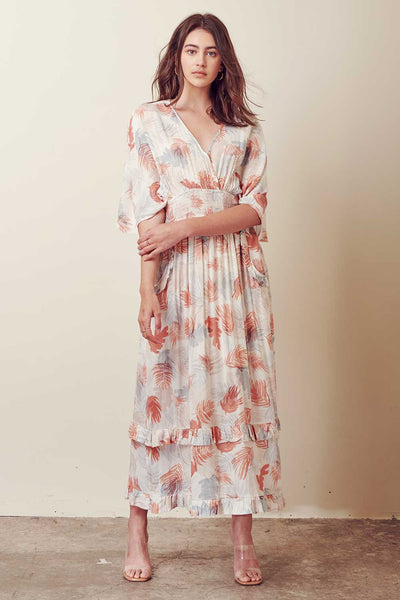 Dresses - Storia V Neck Maxi Dress with Ruffles - Girl Intuitive - Storia -