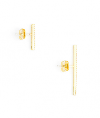 Straight and Narrow Asymmetrical Earrings back