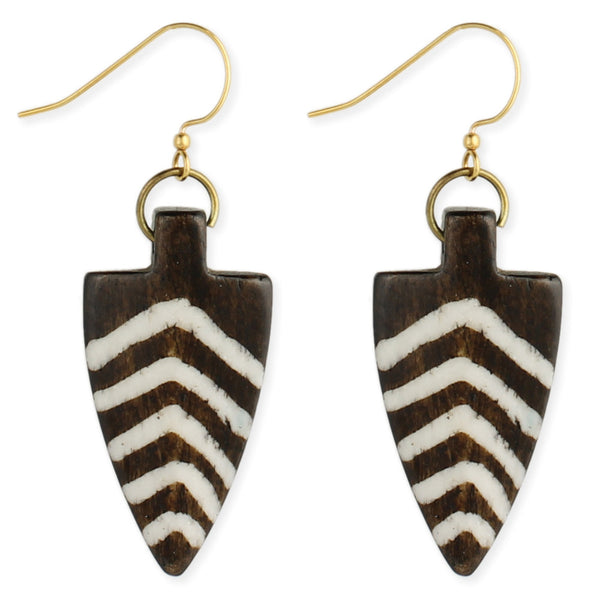 Striped Arrowhead Earrings