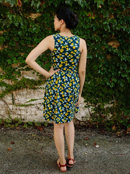 Mata traders Summer Sonnet Dress Lemons back
