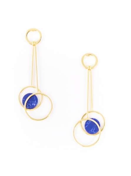 Swingfully Yours Cobalt Drop Earrings