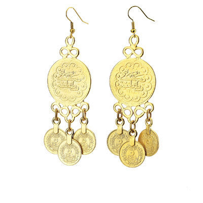 Multi-drop Vintage Coin Earrings