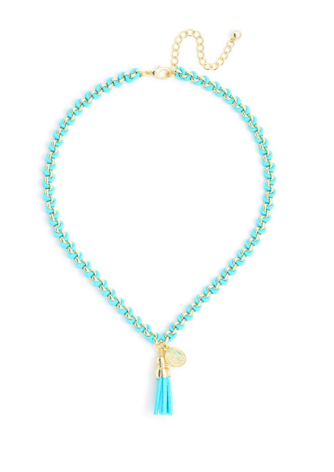 Tassel Pendant Short Necklace mint