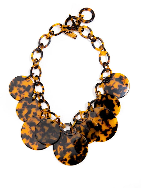 Torti-Ful Dancing Medallions Necklace brown