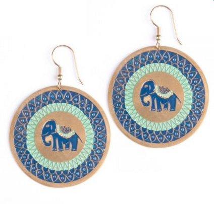 Treasure Trunk Earrings Blue