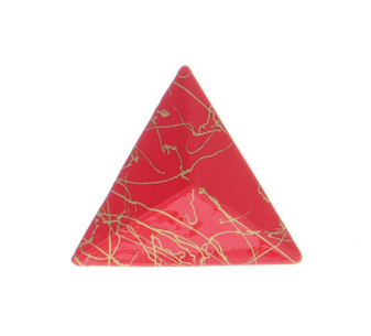 3D Triangle Earring Studs in Red - Girl Intuitive