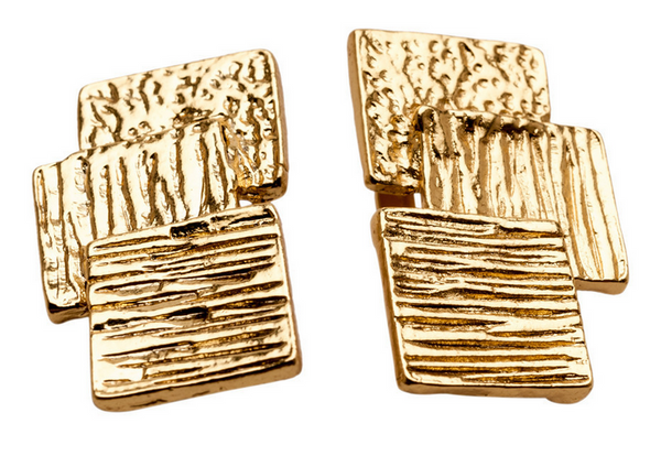 Triple Squared Clip-On Earrings